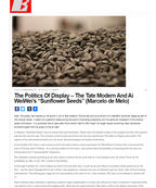 Politics of Display: Ai WeiWei's Sunflower Seeds