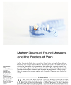 Maher Dawoud: Found Mosaics and the Poetics of Pain