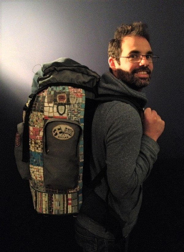 Self-portrait with rucksack 2015